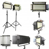 8x55w Tube Fluorescent Light bank with Mirrored Finish
