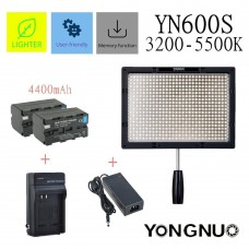 Yongnuo YN600S Pro LED Video Light 3200K-5500K with 4400mAh Battery