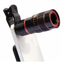 Mobile Phone Camera Zoom Lens Kit Clip