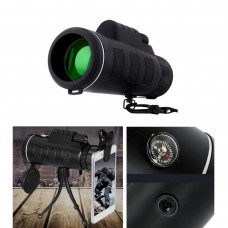 Portable 40X60 Dual Focus Monoculars HD Telescope Night Vision Phone Bird Sport