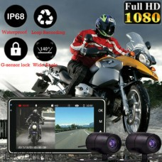 25111 Motorcycle HD Dual Camera DVR Driving Recorder G-sensor