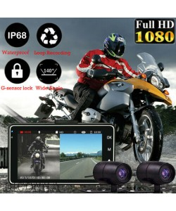 Motorcycle HD Dual Camera DVR Driving Recorder G-sensor