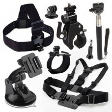 21444 8 in 1 Accessories Set for Gopro, Hero 1, 2, 3, 3+, 4 SJ4000, SJ5000