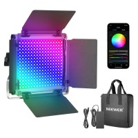 45224 -1 Neewer 480 RGB Led Light with APP Control Metal Shell for Photography