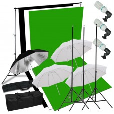 Umbrella Kit 1.8 x 2.8m Choose Color Background Stand 2x3m 405W