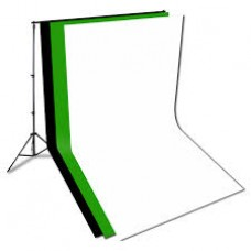Cotton 2.8x3m Stand + 3x6m Cotton Muslin Backdrop Kit Choose Color