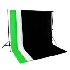 Non Woven 2 x 2M Support + 1.6m x 3m  Non Woven Fabric Backdrops Choose Color