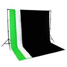 Non Woven 2 x 2m Support + 1.6 x 2m  Non Woven Fabric Backdrops Choose Color