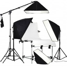 Table Kit 60x130CM Table 540W Continuous Light Product Boom Arm
