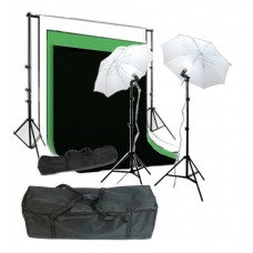 Umbrella Kit 3 x 6m Muslin Choose Color Background 2x3m Stand 250W