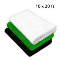 3m x 6m Background Cotton Muslin Green, Black, White