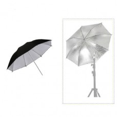 84cm 33 inch  Silver & Black Umbrella
