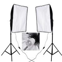 90w Flash Strobe Light Stand Softbox Kit