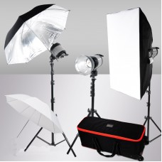 3000W Quartz Halogen Light Photography Studio Video Softbox Kit