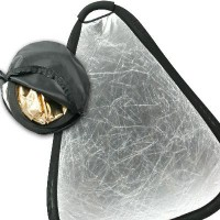 60cm x 24inch 2 in1 Portable Collapsible Gold and Silver Grip Reflector