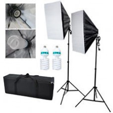 44123 Softbox Set of 2 250W Bulb Continuous Light  Photo & Video Studio
