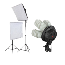 Softbox Set 360W Two Continuous Soft Box Light Kit 4 Head
