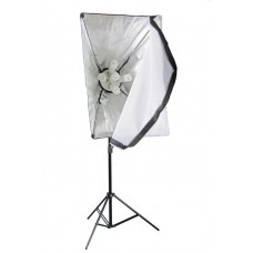 Softbox Set 225W One Continuous Soft Box Light 5 Head