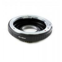 Pentax K mount PK lens to Nikon F mount adapter