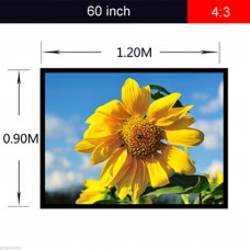 Portable Collapsible 60 inch 4:3 Projector Fabric Matte