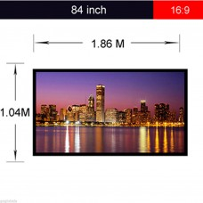 "Portable 84"" White HD TV Cinema Projection Fabric Matte Projector"
