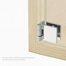 37421 Pair Glass Door Pivot Hinges Single For Cabinet Showcase Cupboard