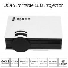 UC46 Mini HD 1080P 800LM LED Projector WIFI Black
