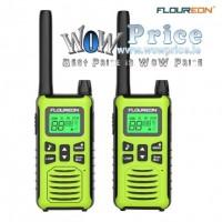 26111 2X FLOUREON 16 CH Walkie Talkies PMR 446MHZ 2 Way Handheld 5000M Green