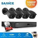 SANNCE 8CH 1080N DVR CCTV System 1080P 2.0MP Security Bullet Cameras