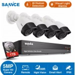 SANNCE 8CH 5MP-N HD DVR  4pcs 5MP Cameras