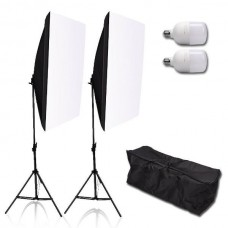 45321 Softbox Continuous Lighting Kit 25W LED Bulb Light Stand