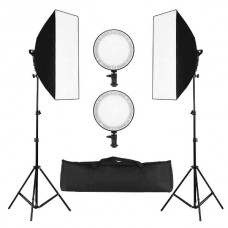 45122 45W Dimmable LED Softbox Lighting Continuous Soft Box Light Stand Kit