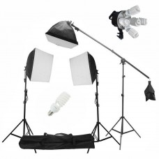 Softbox Set Boom Arm Kit  5 Head Softbox 675W