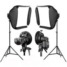 60cm Portable Studio Soft Flash Softbox + 2m Stand X2
