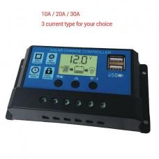 26422 12/24V USB Solar Panel 10A Battery Regulator Charge Intelligent Controller