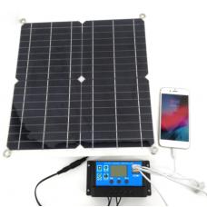 250115 Solar Panel 12V 30W Campervan Battery Charger Controller 10A