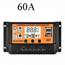 26432 12/24V USB Solar Panel 60A Battery Regulator Charge Intelligent Controller
