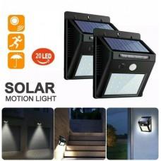 37555-2 2pcs 20 LED Solar Power Garden Lamp