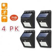 37555-4 4pcs 20 LED Solar Power Garden Lamp