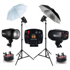 360w Studio Flash Lighting set 2x180w Light Kit