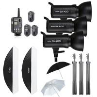 Godox 1200W Godox SK400 Studio Strobe Softbox Trigger Kit