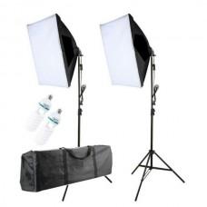 44123 2 250W Bulb Continuous Light  Photo & Video Studio