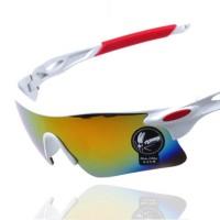 37611 Sunglasses UV400 Outdoor Sports Eyewear Men and Women Driving Cycling White
