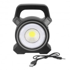 Torch 30W Solar Portable Rechargeable LED Flood Light Outdoor Garden Work Spot Lamp