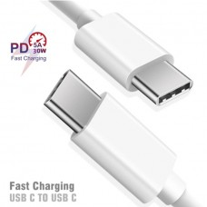 4763 1m White USB Type C to USB Type C Fast Charging Dual Type C Cable