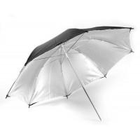 109cm 43 inch Black Silver Umbrella