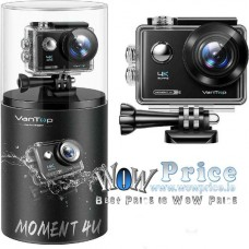 3411 VanTop Moment 4U 4K Action Camera Underwater with 170° Wide Angle WiFi Video Sports Mini Camera