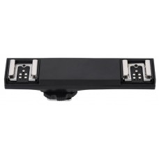 Dual Hot Shoe Flash Bracket Splitter