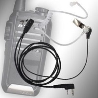 2 Pin Security Earpiece Headset for Radio Clear Walkie Talkie