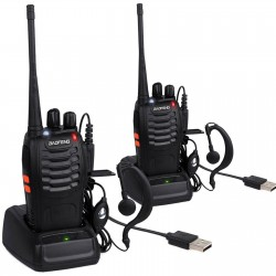 Baofeng Two BF-888S UHF 400-470MHz Walkie Talkie 2-Way Radio